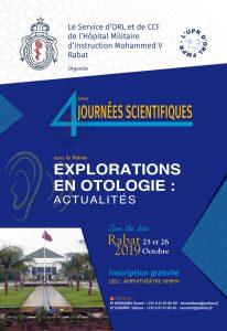 4ème Journées scientifiques d'ORL de l'Hôpital Militaire Mohammed V de Rabat @ Hôpital Militaire Mohammed V